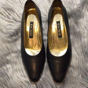 Escada Black Low Heel Pumps Size 6